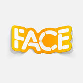 Realistic design element: face — Stock Vector