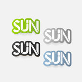 Realistic design element: sun — Stock Vector