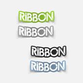 Realistic design element: ribbon — Stock Vector