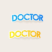 Realistic design element: doctor — Vecteur