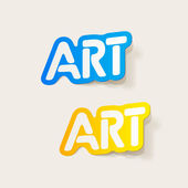 Realistic design element: art — Stock Vector