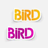 Realistic design element: bird — Stock Vector