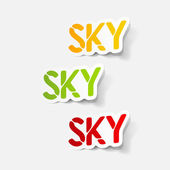 Realistic design element: sky — Stock Vector