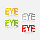 Realistic design element: eye — Stock Vector