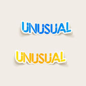 Realistic design element: unusual — Stock Vector