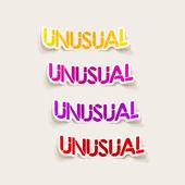 Realistic design element: unusual — Stockvector