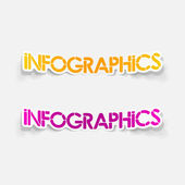 Realistic design element: infographics — Stock Vector