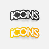 Realistic design element: icons — Stock Vector