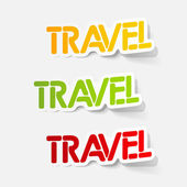 Realistic design element: travel — Stock Vector