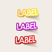 Realistic design element: label — 图库矢量图片