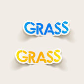Realistic design element: grass — Stock Vector
