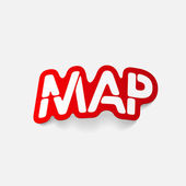 Realistic design element: map — 图库矢量图片