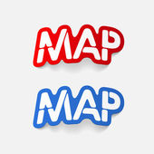 Realistic design element: map — Stock Vector