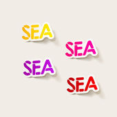 Realistic design element: sea — Stock Vector