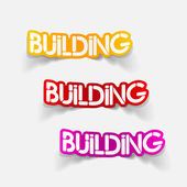 Realistic design element: building — Stock Vector