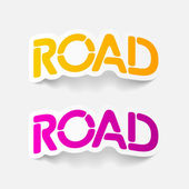 Realistic design element: road — Stock Vector