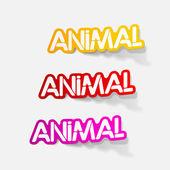 Realistic design element: animal — Stock Vector