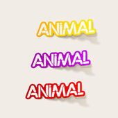 Realistic design element: animal — Stock Vector
