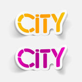 Realistic design element: city — Stock Vector