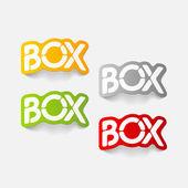 Realistic design element: box — Stock Vector
