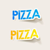 Realistic design element: pizza — Stock Vector