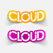 Realistic design element: cloud — Stock Vector