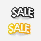 Realistic design element: sale — Vector de stock