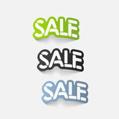 Realistic design element: sale — Stock Vector