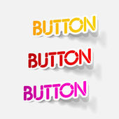 Realistic design element: button — 图库矢量图片