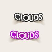 Realistische ontwerpelement: wolken — Stockvector