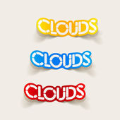 Realistic design element: clouds — Stock Vector