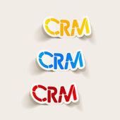 Realistic design element: CRM — Stock Vector
