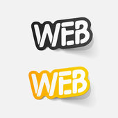 Realistic design element: WEB — Stock Vector