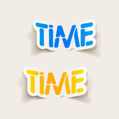 Realistic design element: TIME — Stock Vector