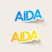 Projekt realistyczny element: aida — Wektor stockowy