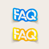Realistic design element: FAQ — Stock Vector