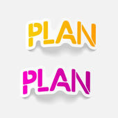 Realistic design element: PLAN — Stock Vector