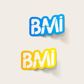 Realistic design element: BMI — Vector de stock