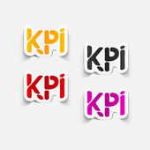 Realistic design element: KPI — Stock Vector
