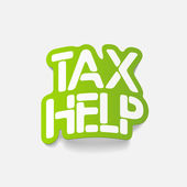 Realistic design element: TAX HELP — Vector de stock