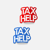 Realistic design element: TAX HELP — Stock Vector