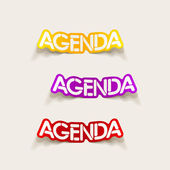 Realistic design element: agenda — Stock Vector