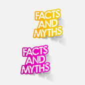 Realistic design element: facts and myths — Stock Vector