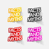 Realistic design element: facts and myths — Vector de stock