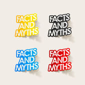 Realistic design element: facts and myths — ストックベクタ