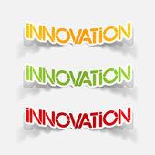 Realistic design element: innovation — Stock Vector
