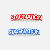 Realistic design element: stagnation — Stock Vector