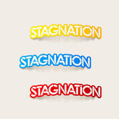 Realistic design element: stagnation — Vector de stock