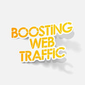 Realistic design element: boosting web traffic — Vector de stock