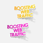Realistic design element: boosting web traffic — Stock Vector